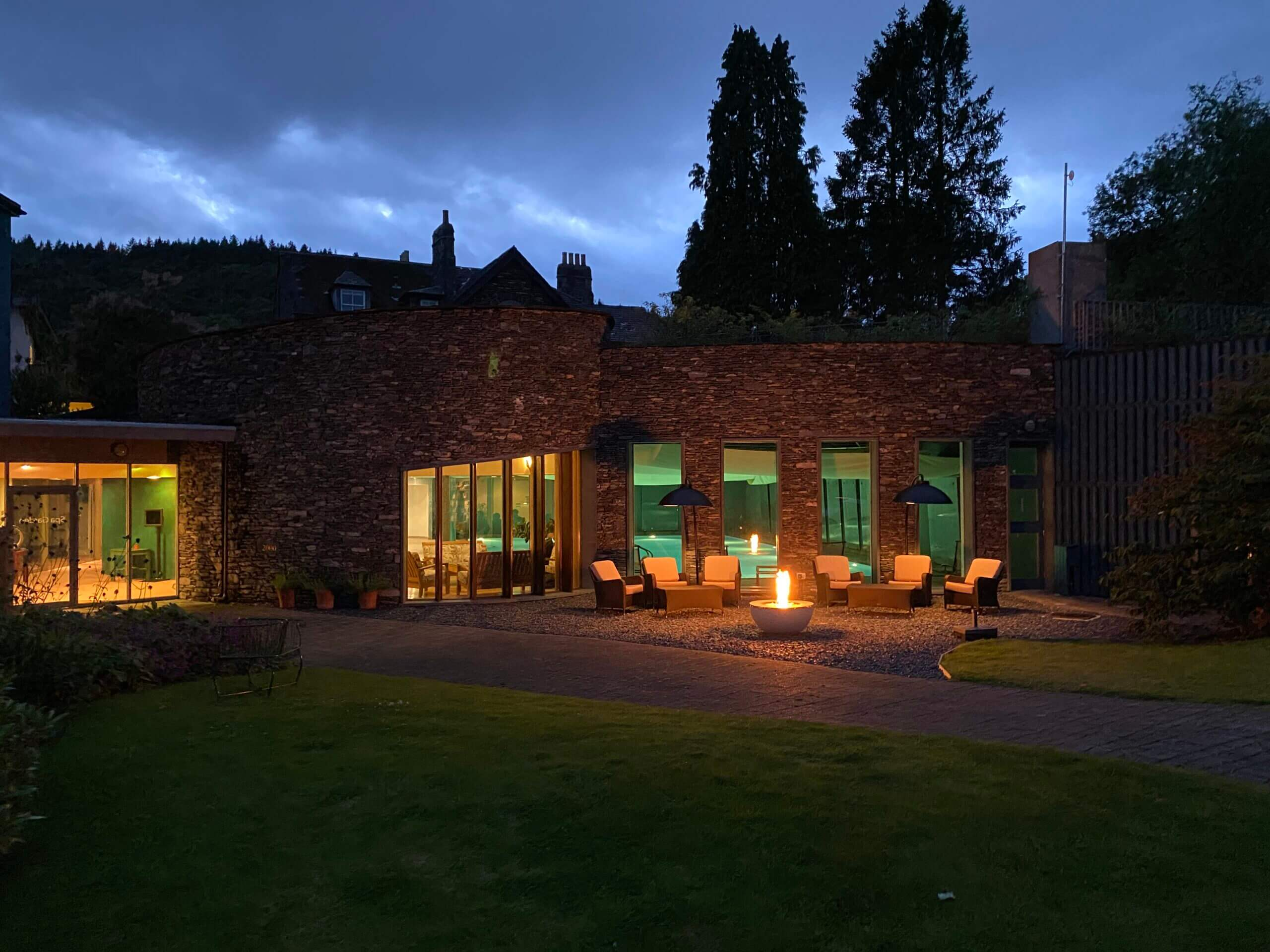 Spa Garden by night