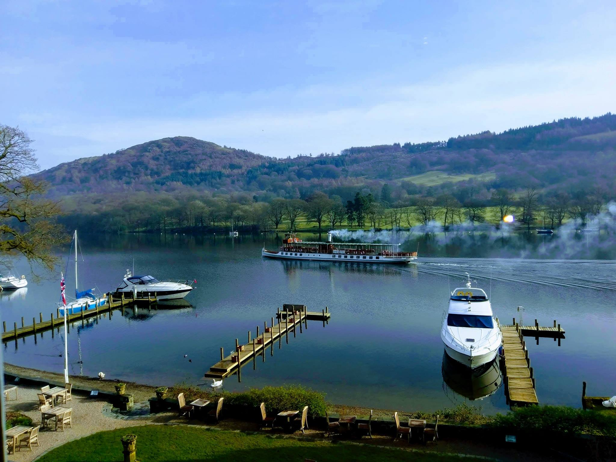 View of Lake Windermere from room 72