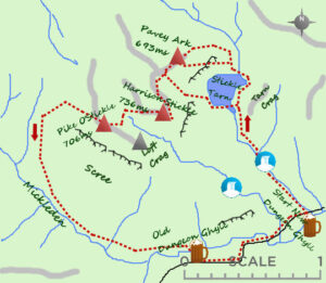 Langdale Pikes Map - Lake District days out