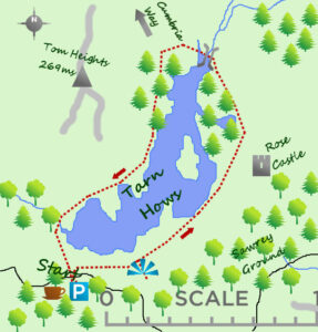 Tarn Hows Map - Lake District days out