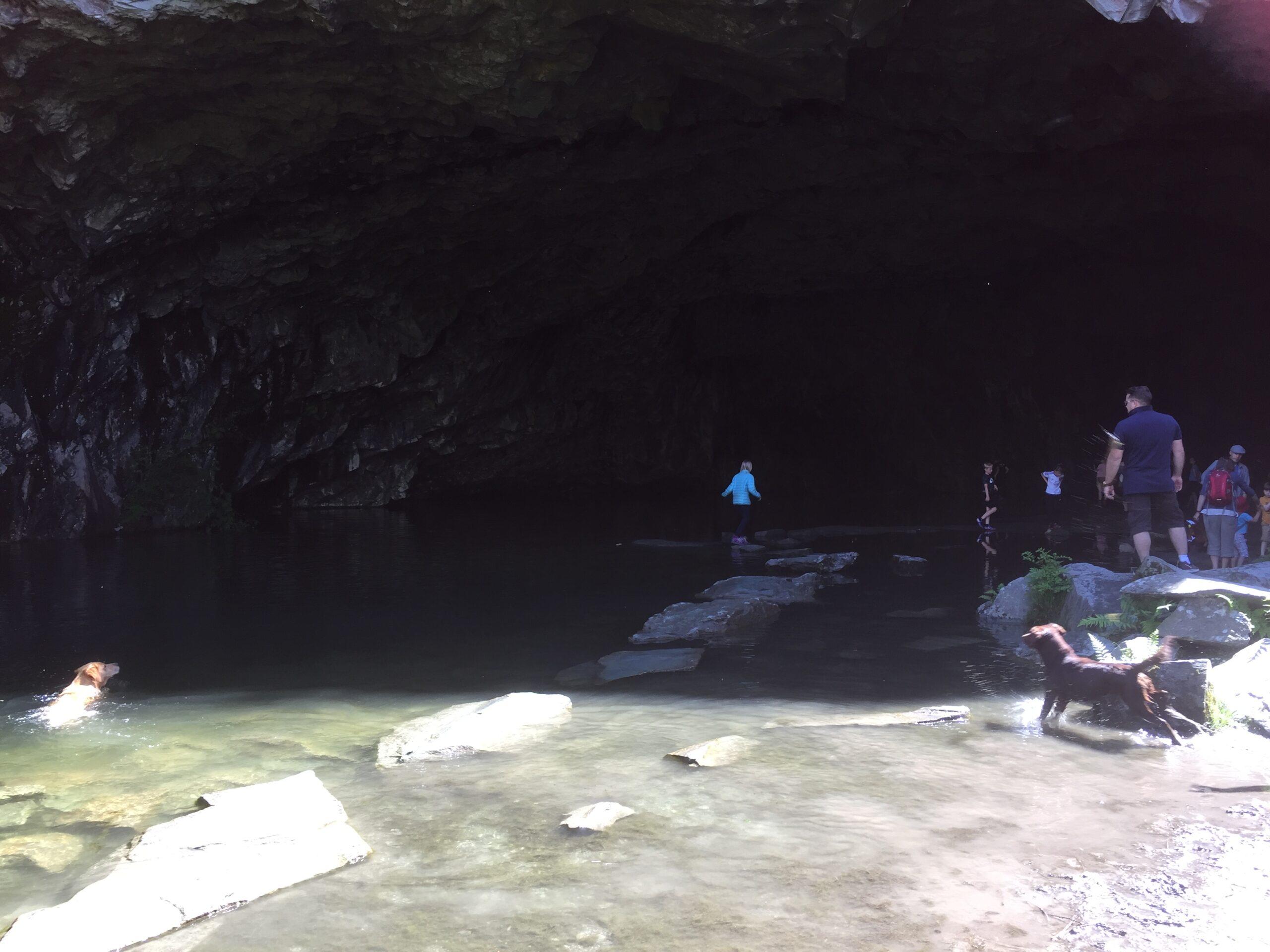 Exploring Rydal Caves